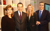 From left, Karen Fondu, president of Maybelline New York-Garnier; Laurent Attal, president and CEO of L'Oréal USA; Cheryl Vitali, senior vice president of Maybelline New York-Garnier; and Alan Meyers,