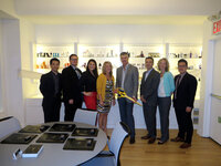 Celebrants gather in Fusion Packaging's new New York showroom