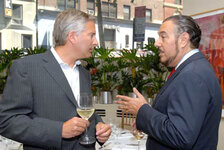 Jerry Vittoria, president fragrances North America, Firmenich; Marc Rosen, Marc Rosen Associates