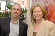 Brad Horowitz, senior vice president, marketing, Clarins; Karen Newman, GCI