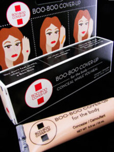 Boo-Boo Cover-Up box and tube of makeup