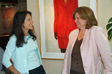 Sioux Saunders, vice president of marketing and product development, Interparfums; Karen Newman, editor in chief, GCI