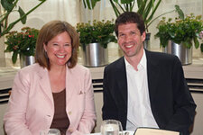 Karen Newman, editor in chief, GCI; Ted Owen, vice president of package design worldwide, Clinique Laboratories
