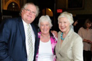 Lord Digby Jones, business consultant Margaret Mountford, and Caroline Neville, president of CEW(UK)