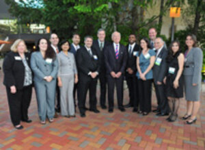 LISCC board members with Leonard Lauder