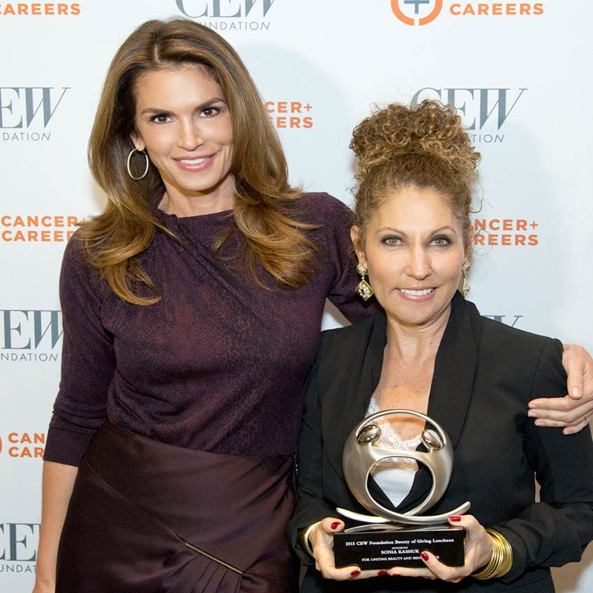 cindy crawford, sonia kashuk, cew cancer and careers