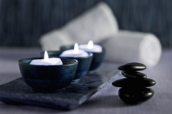Candle holders and at-home spa items from Anisa International