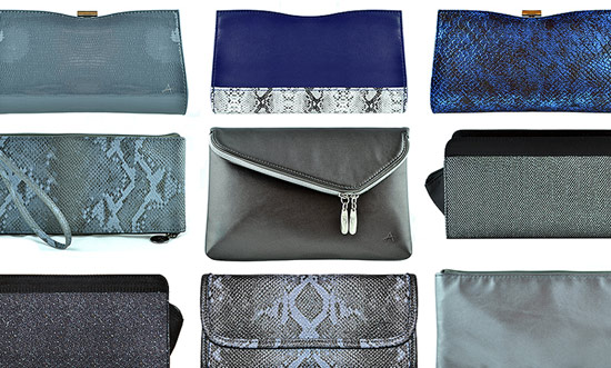 A variety of makeup bags from Anisa International