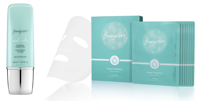 Freeze 24-7's New Avalanche Anti-Aging Peptide Lotion and Intense Hydrating Face Mask