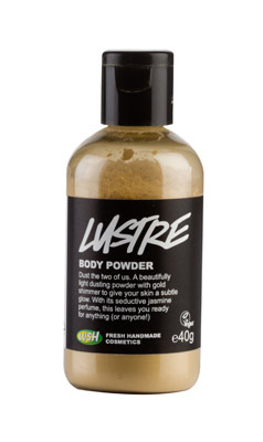 LUSH Lustre Body Powder with new label