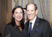 Shiseido Cosmetics America CEO Heidi Manheimer and Bloomingdale's chairman and CEO Michael Gould