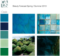 "The CAUS ""mood board"" inspiration for the fragrance <em>Oasis</em>"