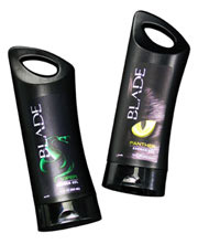 These Blade brand body wash containers were designed by TricorBraun.