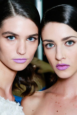 Models with purple lips