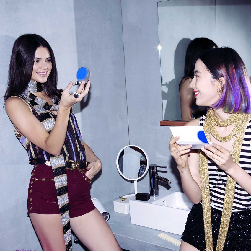 Estee Lauder and Kendall Jenner