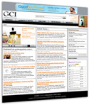 GCI website homepage