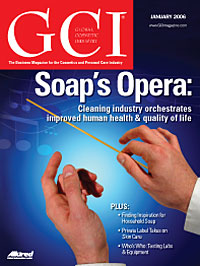 Global Cosmetic Industry January 2006 cover