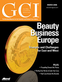 Global Cosmetic Industry March 2006 cover