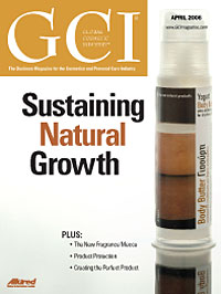 Global Cosmetic Industry April 2006 cover