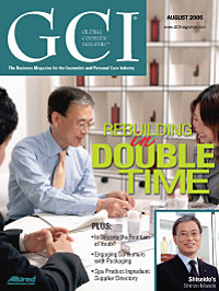 Global Cosmetic Industry August 2006 cover