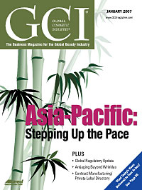 Global Cosmetic Industry January 2007 cover