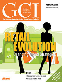 Global Cosmetic Industry February 2007 cover