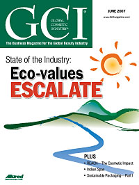 Global Cosmetic Industry June 2007 cover