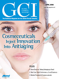 Global Cosmetic Industry April 2008 cover