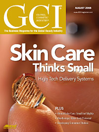 Global Cosmetic Industry August 2008 cover