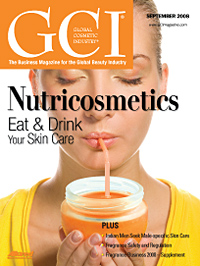 Global Cosmetic Industry September 2008 cover