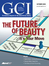 Global Cosmetic Industry October 2008 cover