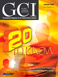 Global Cosmetic Industry January 2009 cover