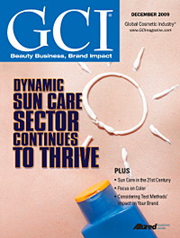 Global Cosmetic Industry December 2009 cover