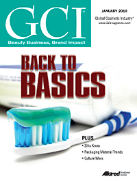 Global Cosmetic Industry January 2010 cover