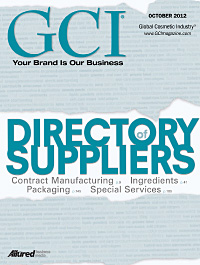 Global Cosmetic Industry October 2012 cover