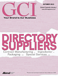Global Cosmetic Industry October 2013 cover