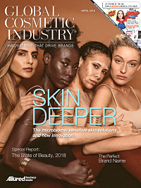 Global Cosmetic Industry April 2018 cover