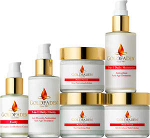 Goldfaden Skincare product line
