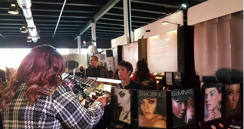 A booth at The Makeup Show