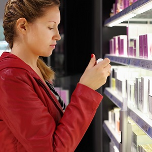 Someone shopping for fragrances